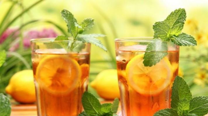 Студен чай с мед, лимон и мента|escape