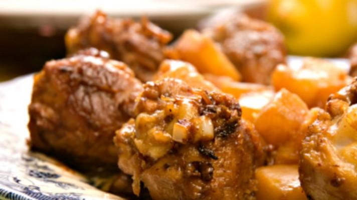 Пиле с лук|escape