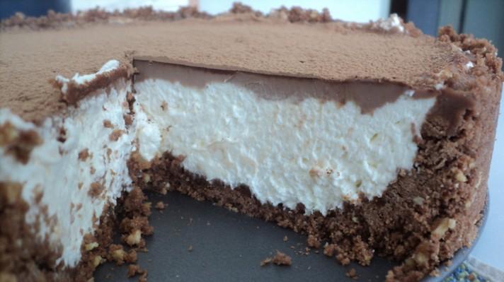 Торта чийзкейк с маскарпоне и шоколад|escape