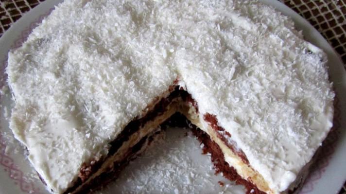 Бисквитена торта с кокос|escape