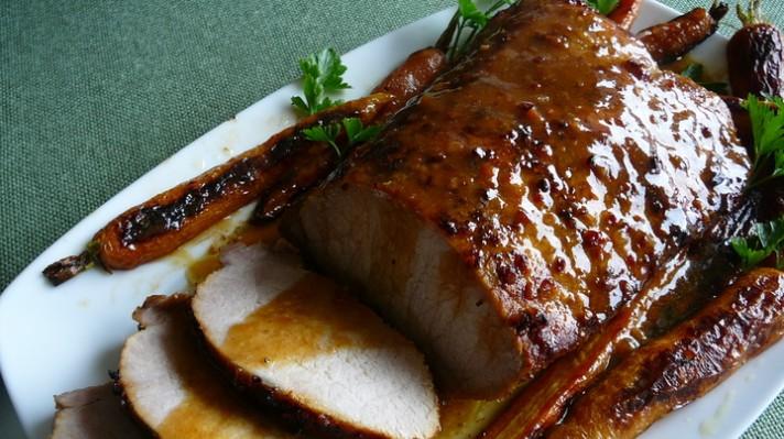 Печено свинско контра филе с марината