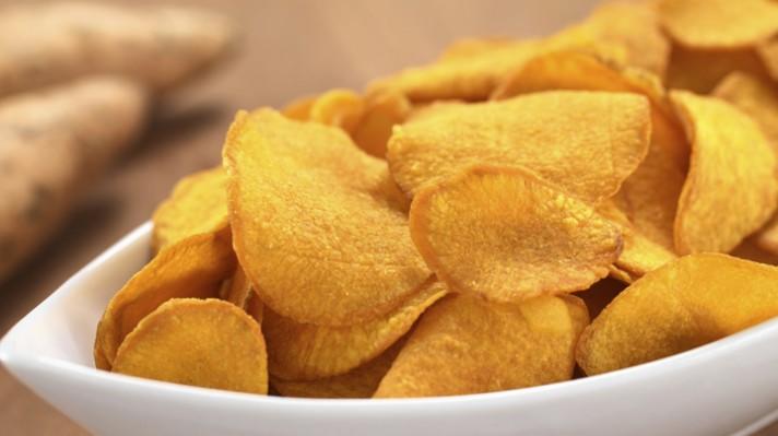Печен чипс от сладки картофи|escape