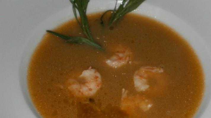 Супа от скариди и зеленчуци