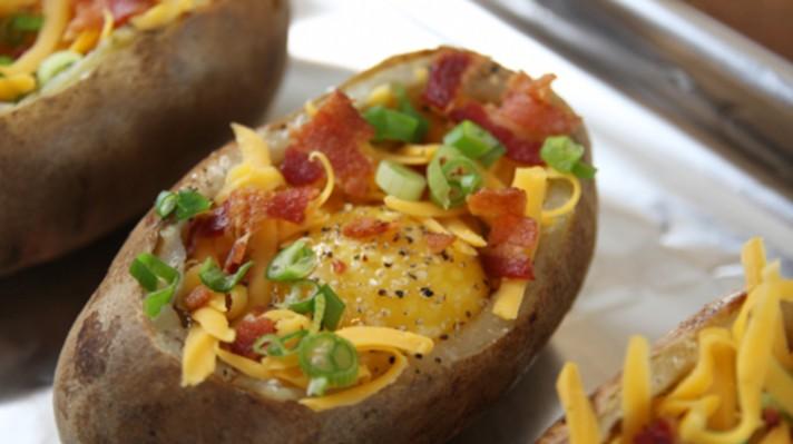 Картофени лодки с кашкавал и яйце|escape