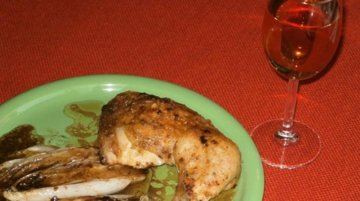 Пикантно пиле с цикория|escape