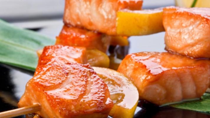 Печена сьомга с дижонска горчица и мед|escape