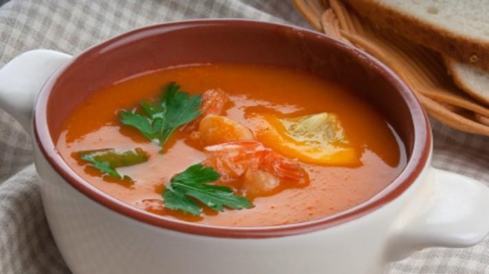 Доматена супа със скариди escape