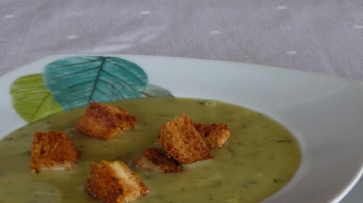 Зеленчукова супа с грах и царевица