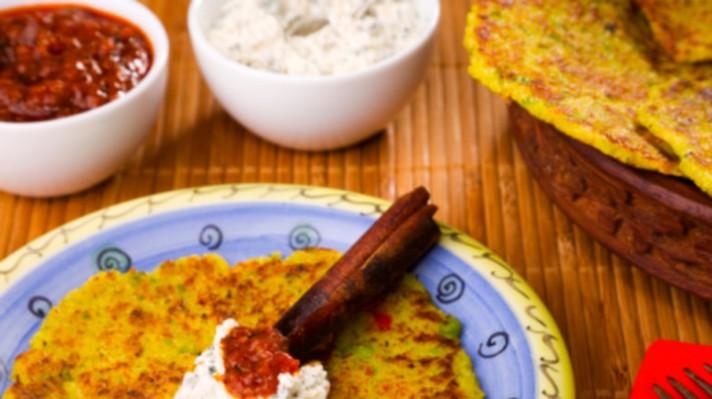 Индийски палачинки с домати и кокос|escape