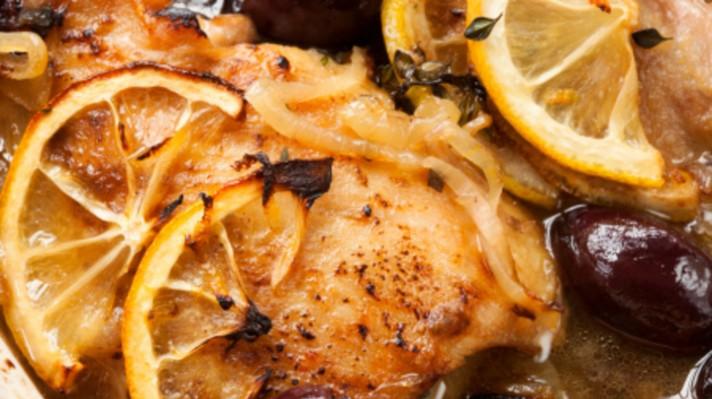 Пилешко с лимон и маслини|escape