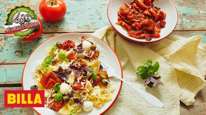 Салата с паста и печени домати|escape