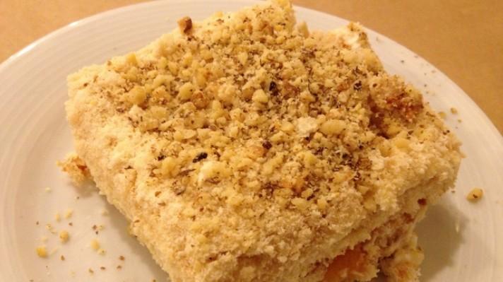 Бисквитена торта с маскарпоне и портокали