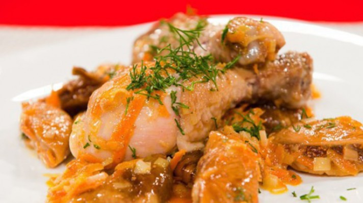Пиле с копър и сушени смокини|escape