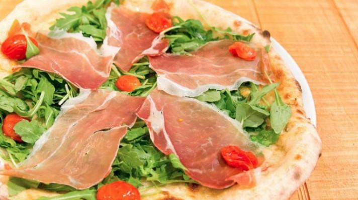 Пица с чери домати, рукола и прошуто|escape