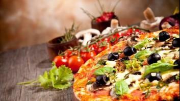 Пица с шунка, гъби и маслини
