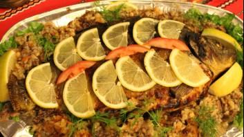 Шаран с ориз на фурна