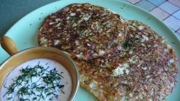 Палачинки от тиквички с кисело мляко