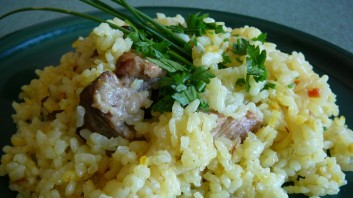 Свинско с шафран и ориз