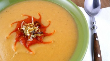 Картофена крем супа с чесън