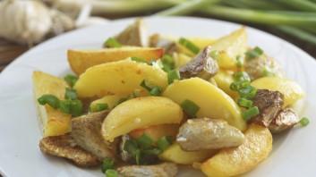 Картофи със сос от див лук