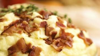 Картофено пюре с бекон