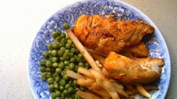 Печено пиле със сладка горчица