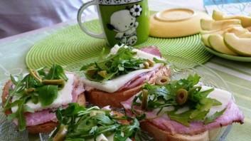 Сандвич с рукола и пушено месо