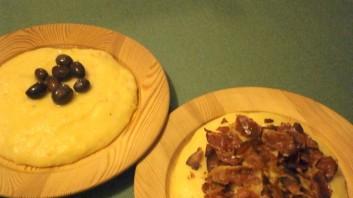 Качамак с прошуто и маслини