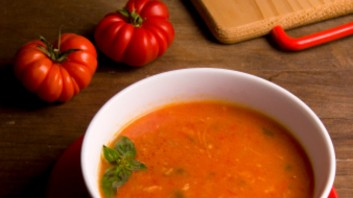 Крем супа от червени чушки