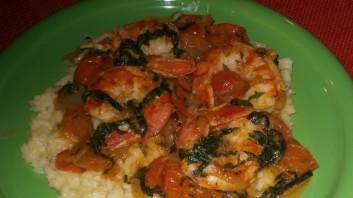 Скариди върху ориз