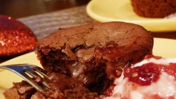 Шоколадово суфле с черен шоколад