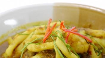 Калмари с манго и джинджифил (Тайланд)