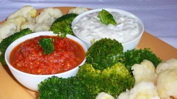Салата с броколи и карфиол
