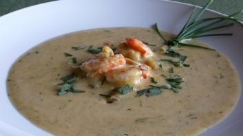 Супа със скариди и броколи