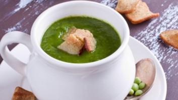 Крем супа от грах с билки