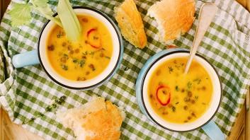 Супа с печени моркови и френска леща