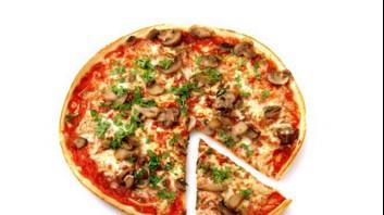 Пица с гъби, чесън и моцарела